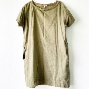 EILEEN FISHER organic cotton tunic shirt petite L